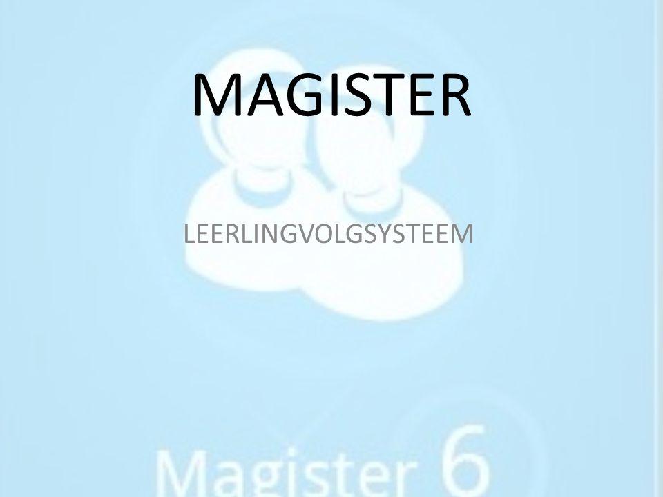 MAGISTER LEERLINGVOLGSYSTEEM