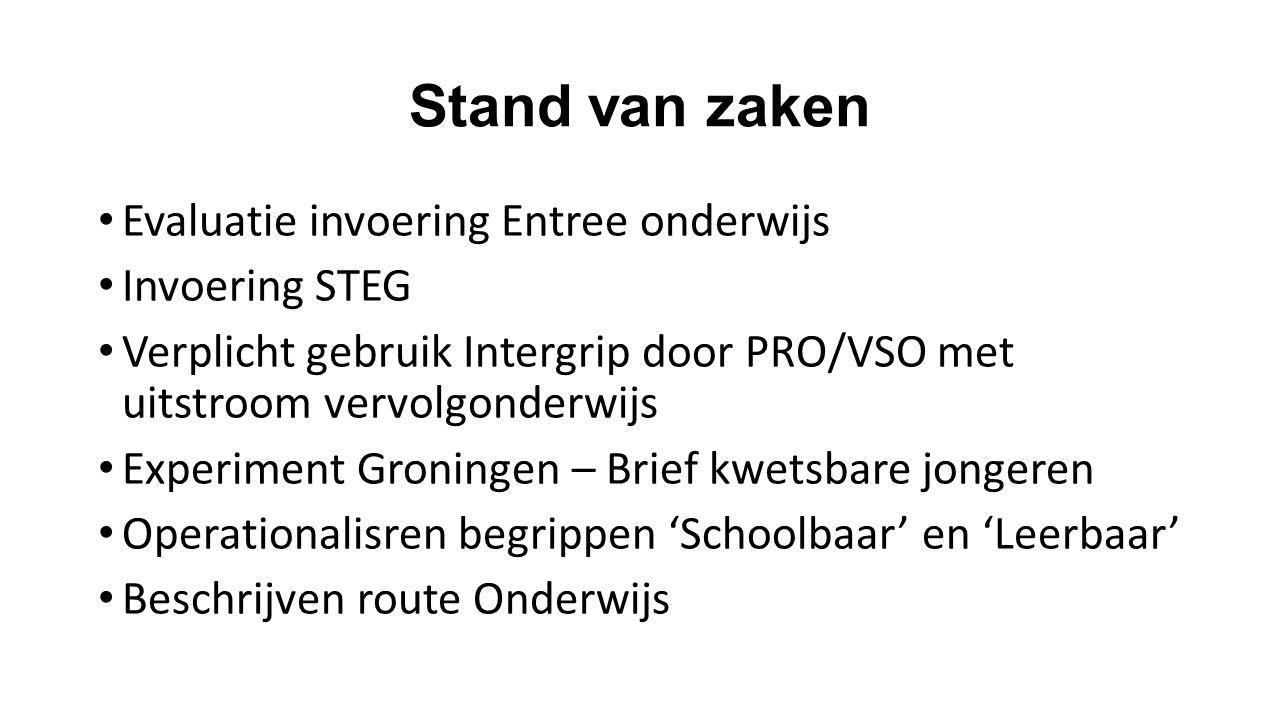 Conclusie/Stelling Ondanks bestuurlijke drukte vooraf is de invoering Entree onderwijs Groningen succesvol verlopen