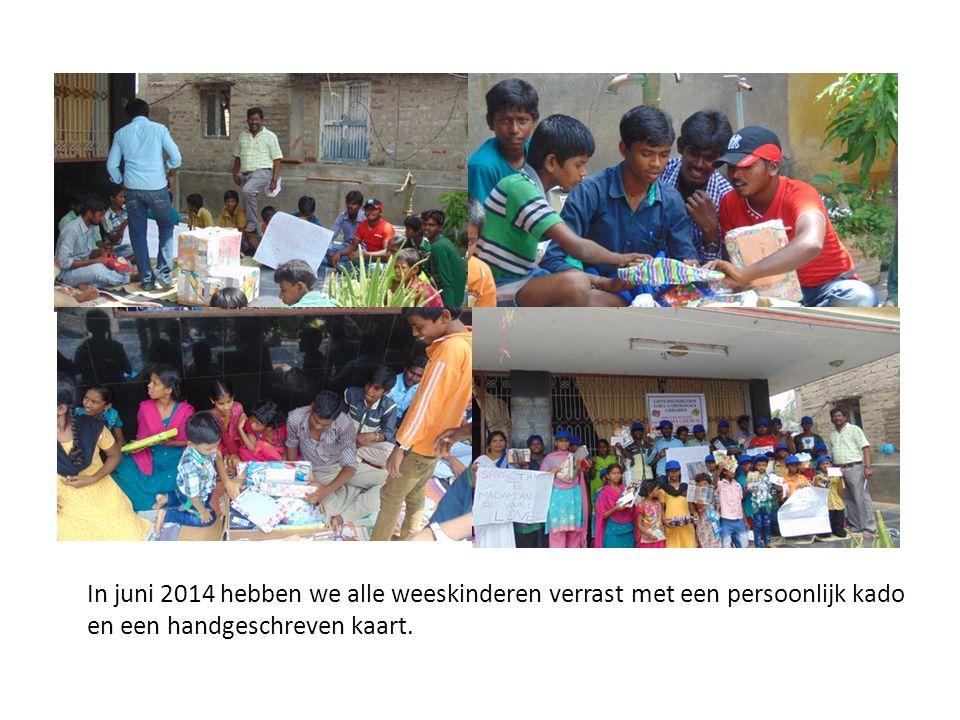In juni 2014 hebben we alle weeskinderen verrast met een persoonlijk kado en een handgeschreven kaart.
