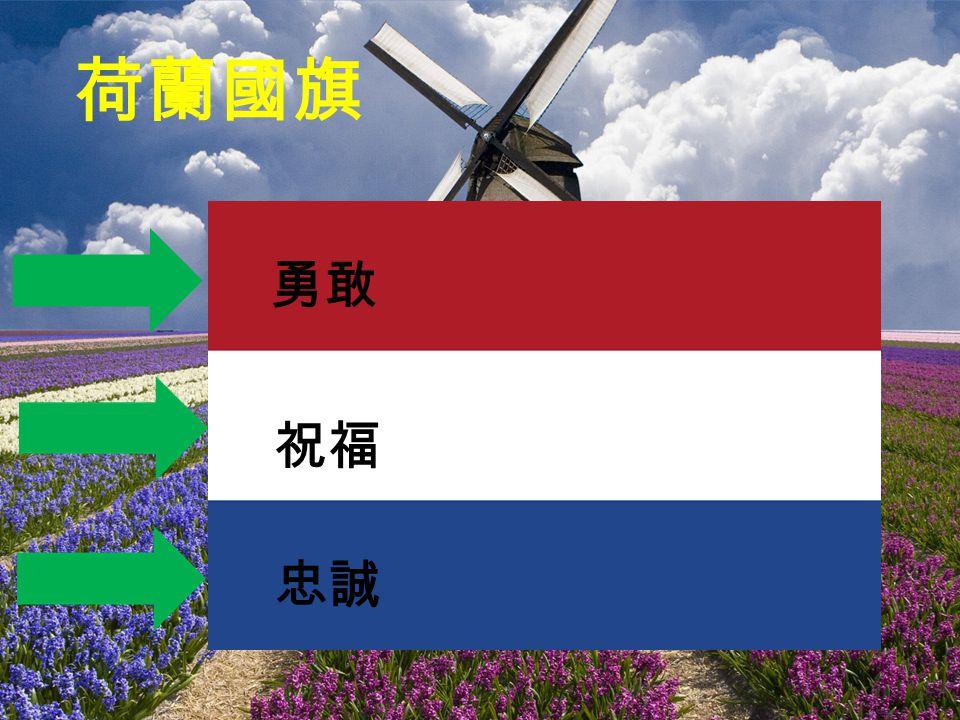 荷蘭國旗 勇敢 祝福 忠誠