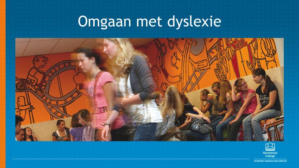 Eerste 6 weken Omgaan met dyslexie op het Heerbeeck College 2 groepen van ongeveer 20 leerlingen Leren van elkaar.