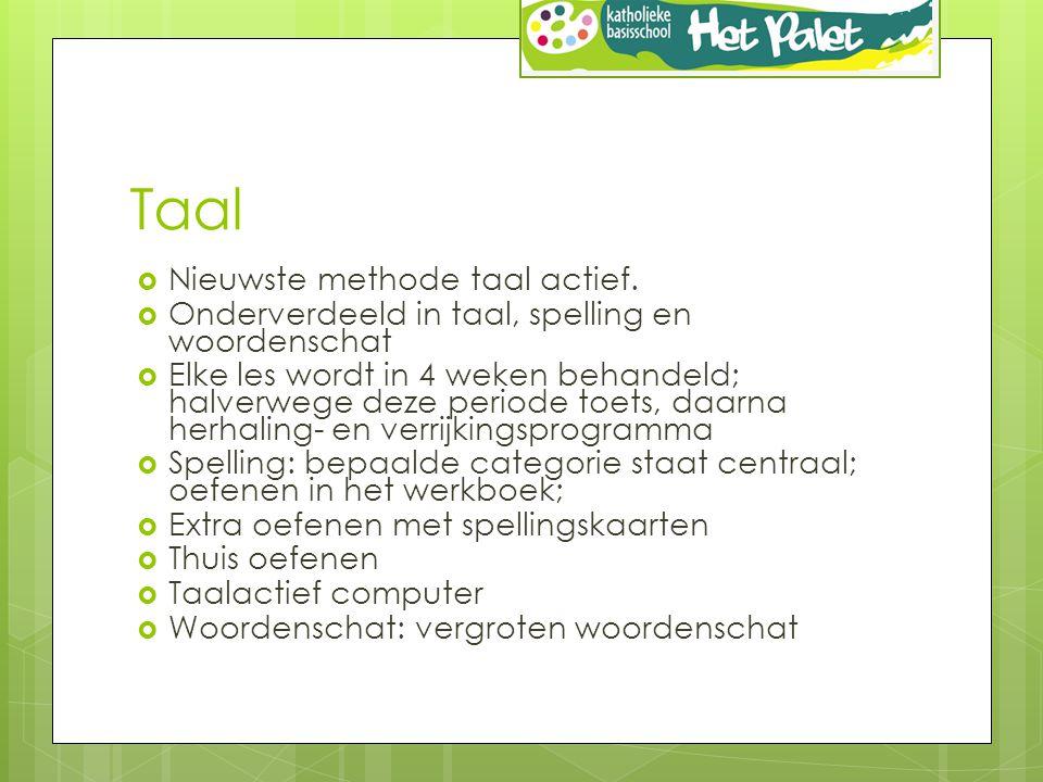 Taal  Nieuwste methode taal actief.