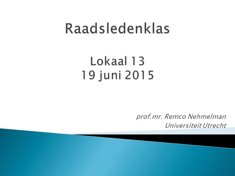 prof.mr. Remco Nehmelman Universiteit Utrecht