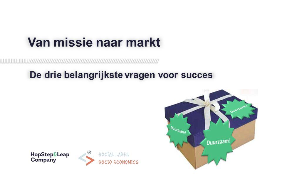 Van missie naar markt De drie belangrijkste vragen voor succes