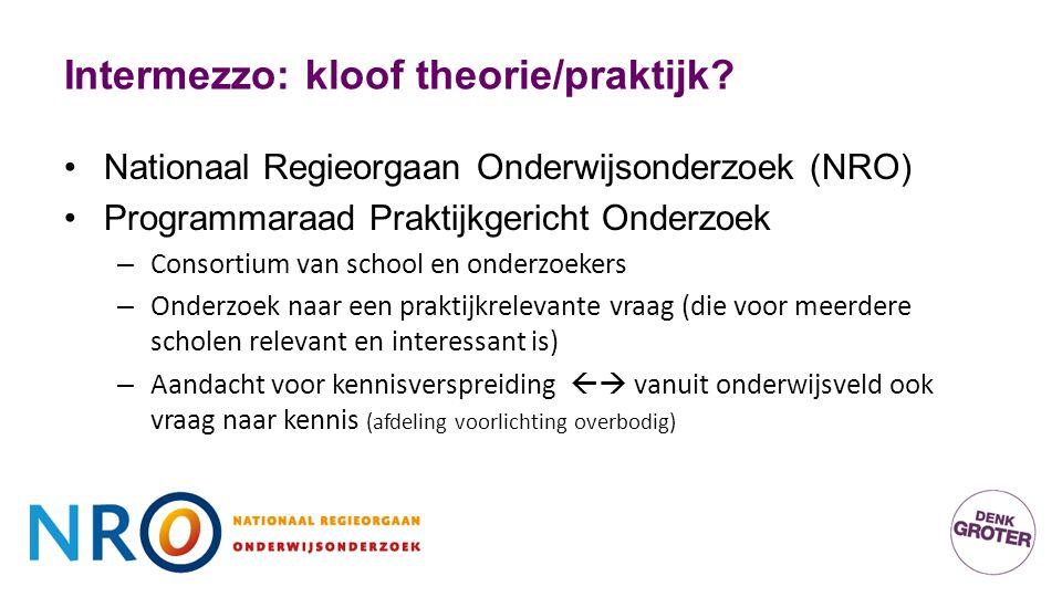 Intermezzo: kloof theorie/praktijk.