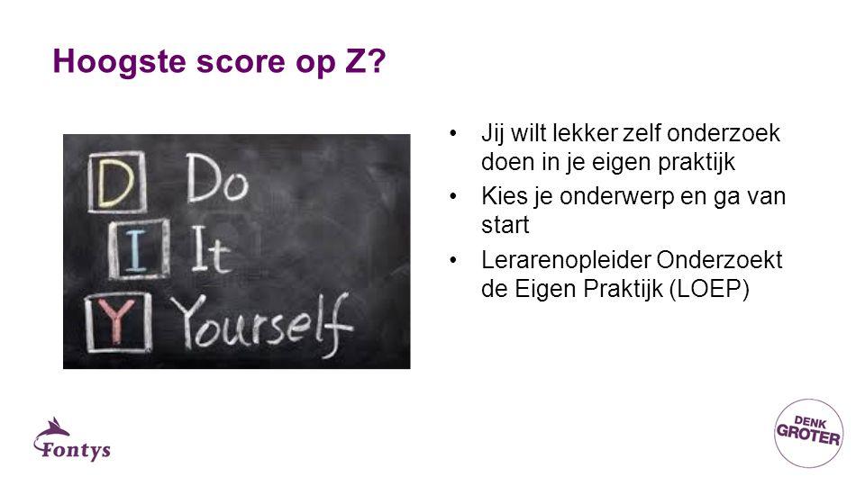 Hoogste score op Z.