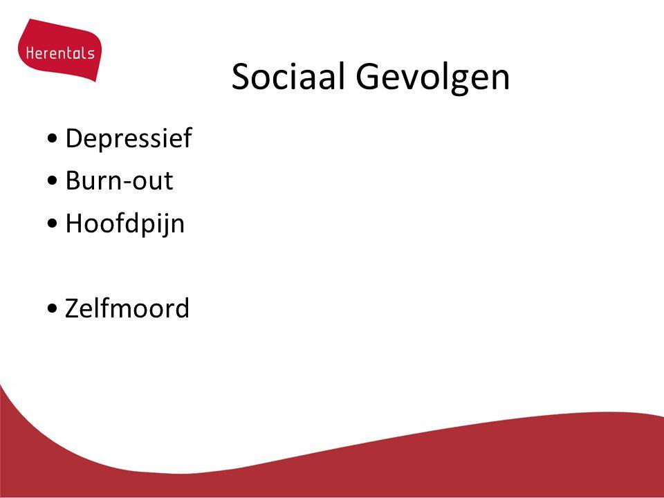 Sociaal Gevolgen Depressief Burn-out Hoofdpijn Zelfmoord