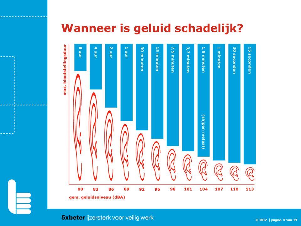 Wanneer is geluid schadelijk? © 2012 | pagina 5 van 14