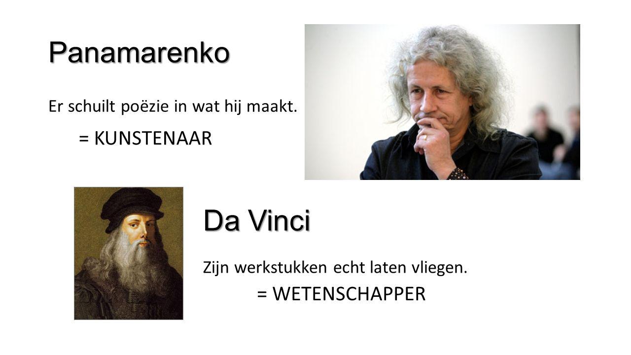 Panamarenko Er schuilt poëzie in wat hij maakt.Da Vinci Zijn werkstukken echt laten vliegen.