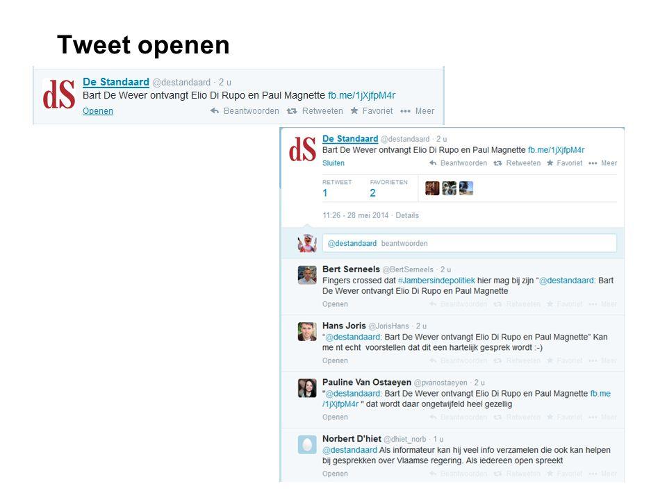 Tweet openen