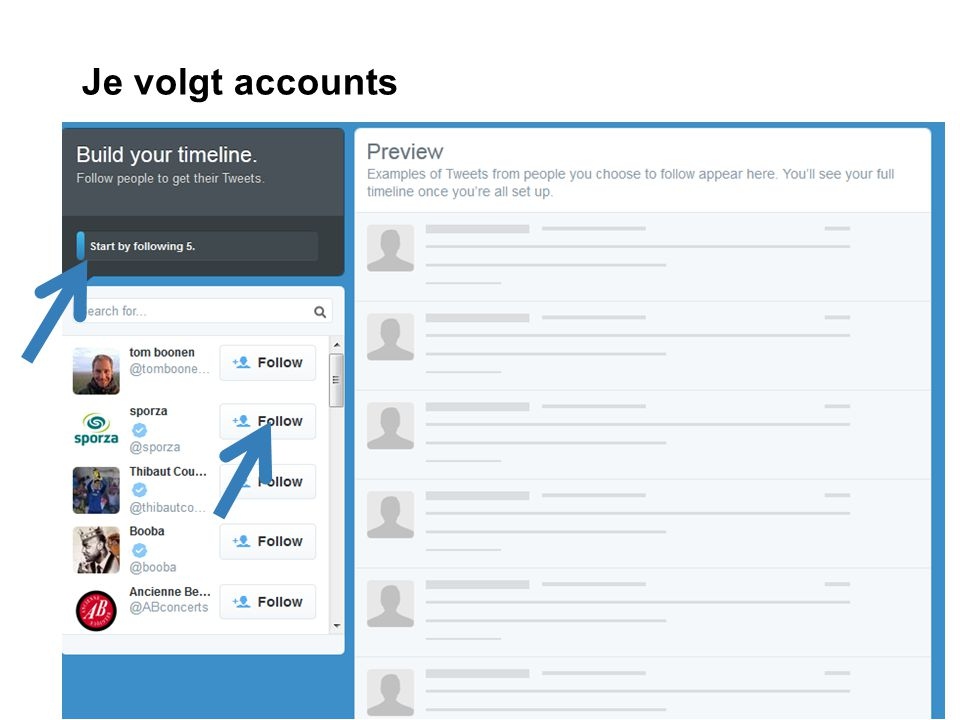 Je volgt accounts