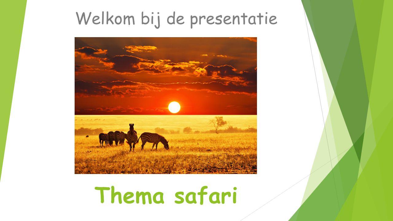 Thema safari Welkom bij de presentatie