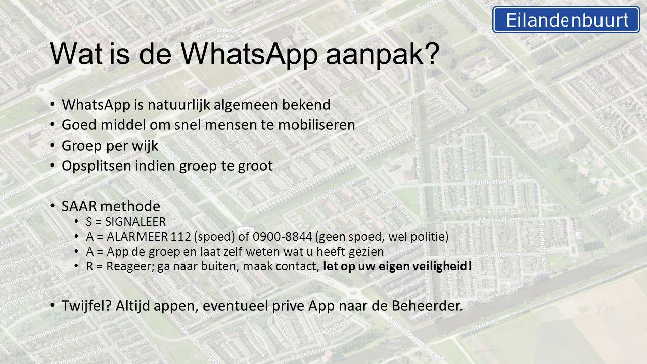 Wat is de WhatsApp aanpak.
