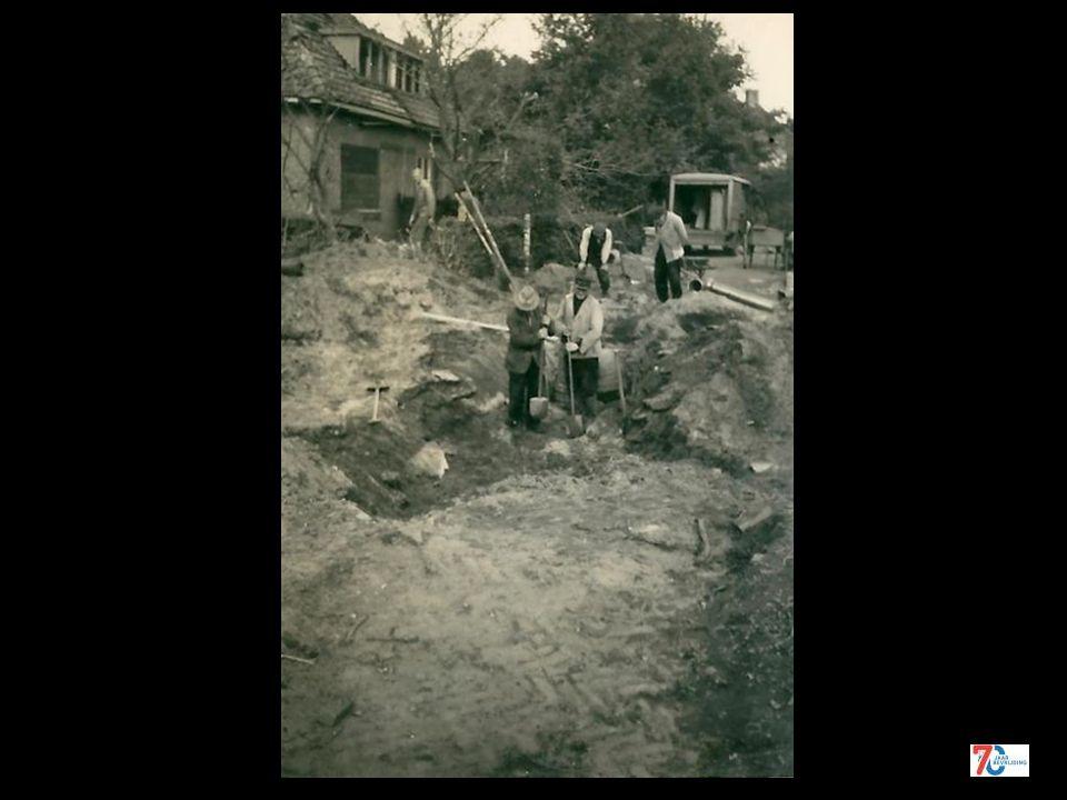 Schade aangebracht door brisantbom 4 oktober 1943