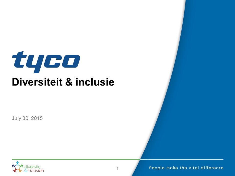 11 Diversiteit & inclusie July 30, 2015