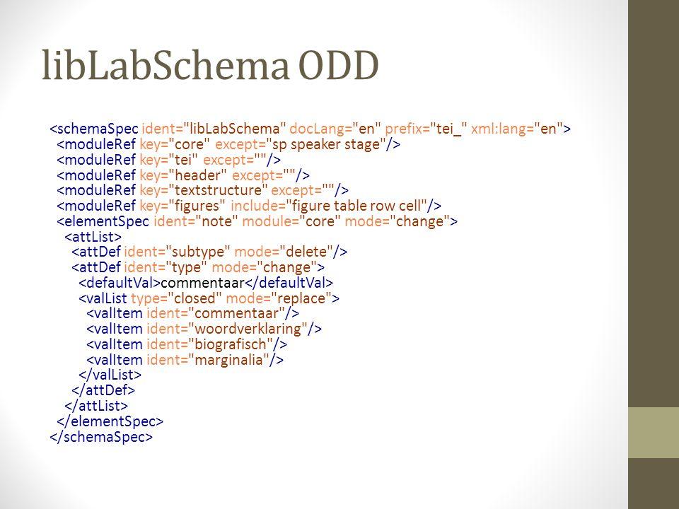 libLabSchema ODD commentaar