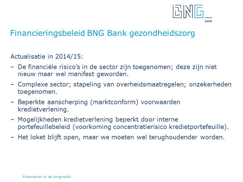Actualisatie in 2014/15: –De financiële risico's in de sector zijn toegenomen; deze zijn niet nieuw maar wel manifest geworden.