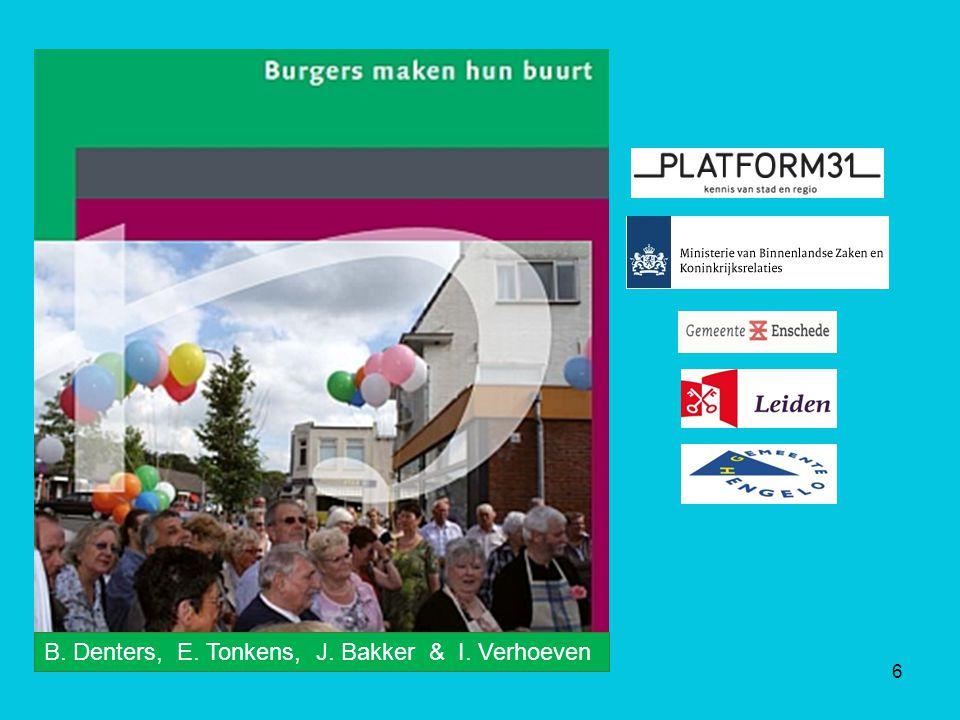6 B. Denters, E. Tonkens, J. Bakker & I. Verhoeven
