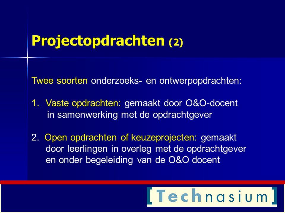 Vaste opdrachten (SG Ubbo Emmius)  De aardappelreiniger (klas 4 (2004-2005): ontwerpopdracht )  Multimediameubel (klas 2 en 4 (2005-2006): ontwerp en onderzoek)  Voertuiggeleiding (klas 4 (2005-2006/7): ontwerp)  Biodiesel (klas 4 (2006-2007): onderzoeksopdracht)  LOFAR (klas 4 (2005-2006): ontwerpopdracht) (brainbox.usor.nl; gebruikersnaam: ue-gast; wachtwoord: gast)