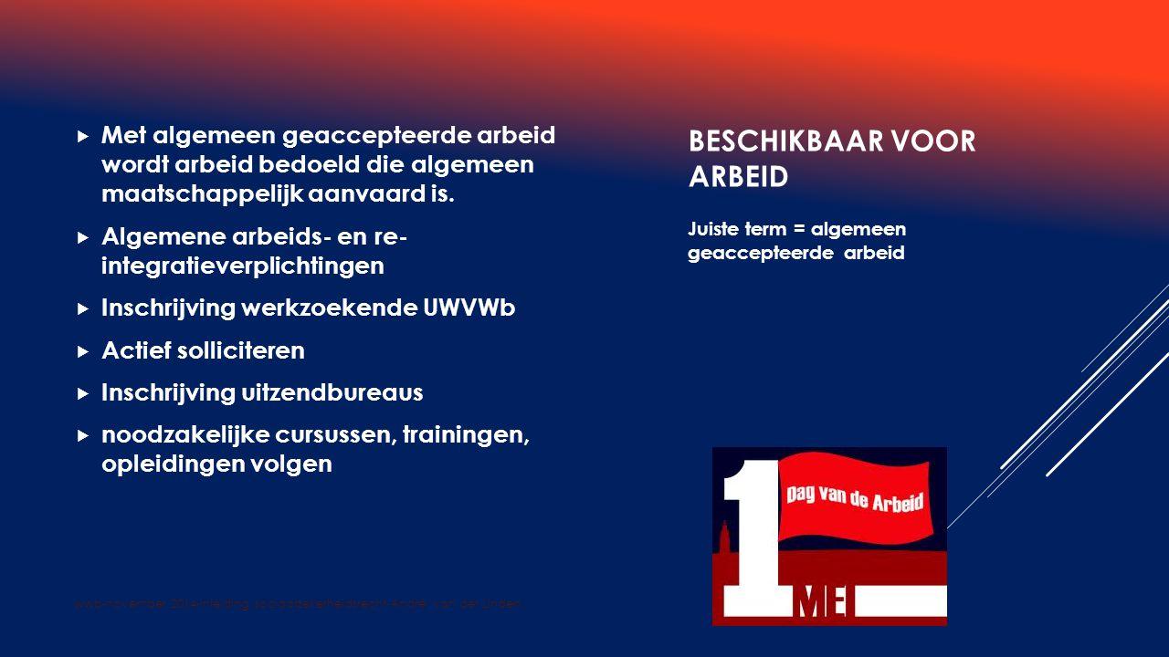 wwb-november 2014-inleiding sociaalzekerheidsrecht-André van der Linden.