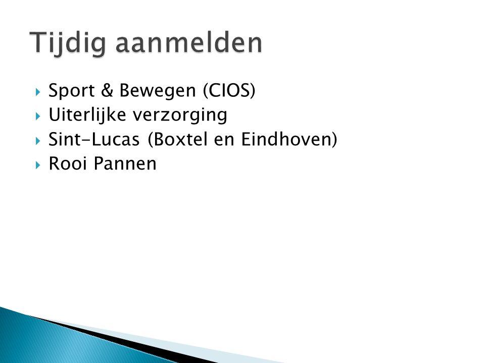  Sport & Bewegen (CIOS)  Uiterlijke verzorging  Sint-Lucas (Boxtel en Eindhoven)  Rooi Pannen