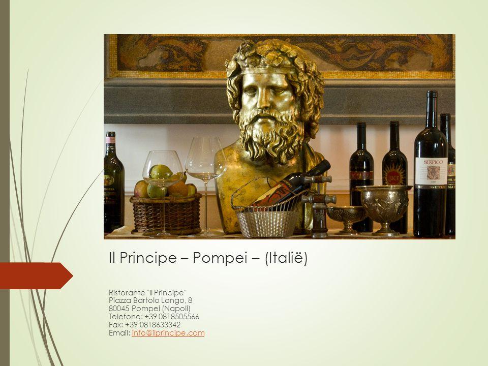 Il Principe – Pompei – (Italië) Ristorante
