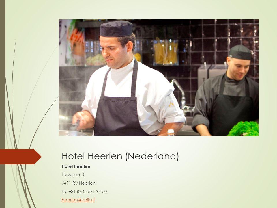 Hotel Heerlen (Nederland) Hotel Heerlen Terworm 10 6411 RV Heerlen Tel +31 (0)45 571 94 50 heerlen@valk.nl