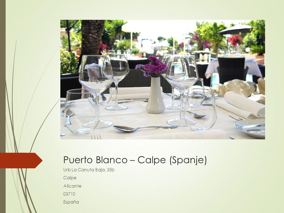 Puerto Blanco – Calpe (Spanje) Urb La Canuta Baja, 35b Calpe Alicante 03710 España