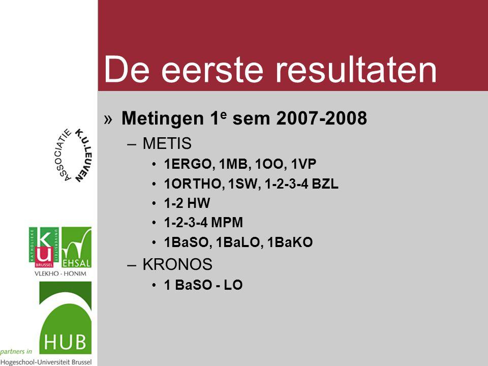 »Metingen 1 e sem 2007-2008 –METIS 1ERGO, 1MB, 1OO, 1VP 1ORTHO, 1SW, 1-2-3-4 BZL 1-2 HW 1-2-3-4 MPM 1BaSO, 1BaLO, 1BaKO –KRONOS 1 BaSO - LO