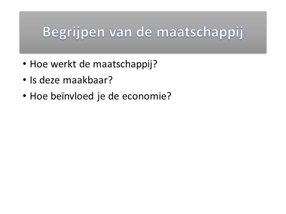 Hoe werkt de maatschappij? Is deze maakbaar? Hoe beïnvloed je de economie?