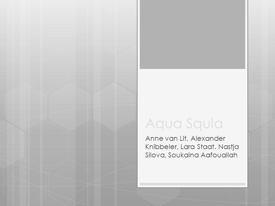 Aqua Squla Anne van Lit, Alexander Knibbeler, Lara Staat. Nastja Silova, Soukaina Aafouallah