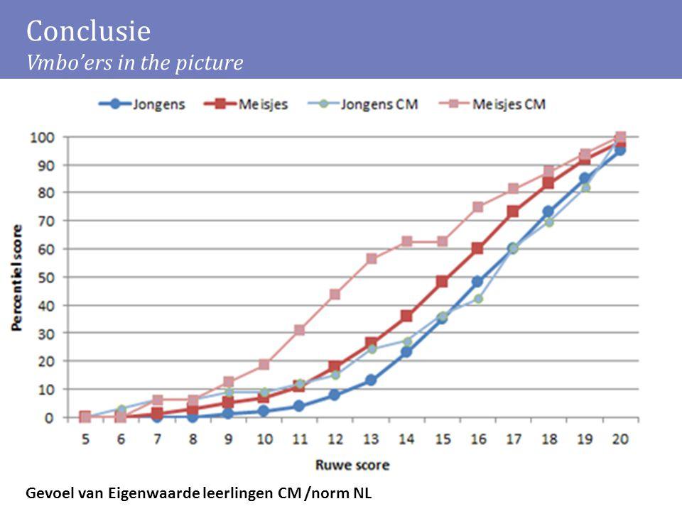 Conclusie Vmbo'ers in the picture Gevoel van Eigenwaarde leerlingen CM /norm NL