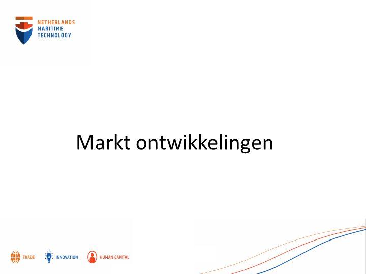 Markt ontwikkelingen