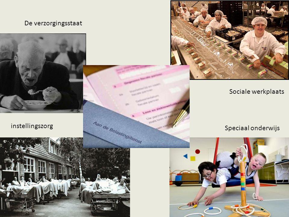 De verzorgingsstaat instellingszorg Sociale werkplaats Speciaal onderwijs