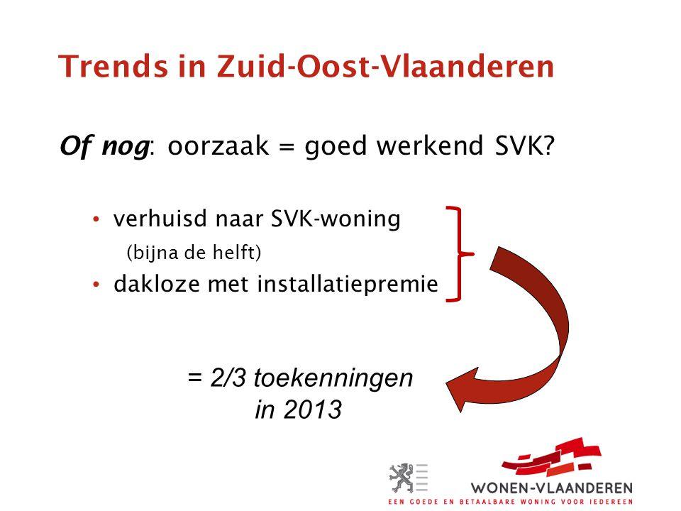 Trends in Zuid-Oost-Vlaanderen Of nog: oorzaak = goed werkend SVK.