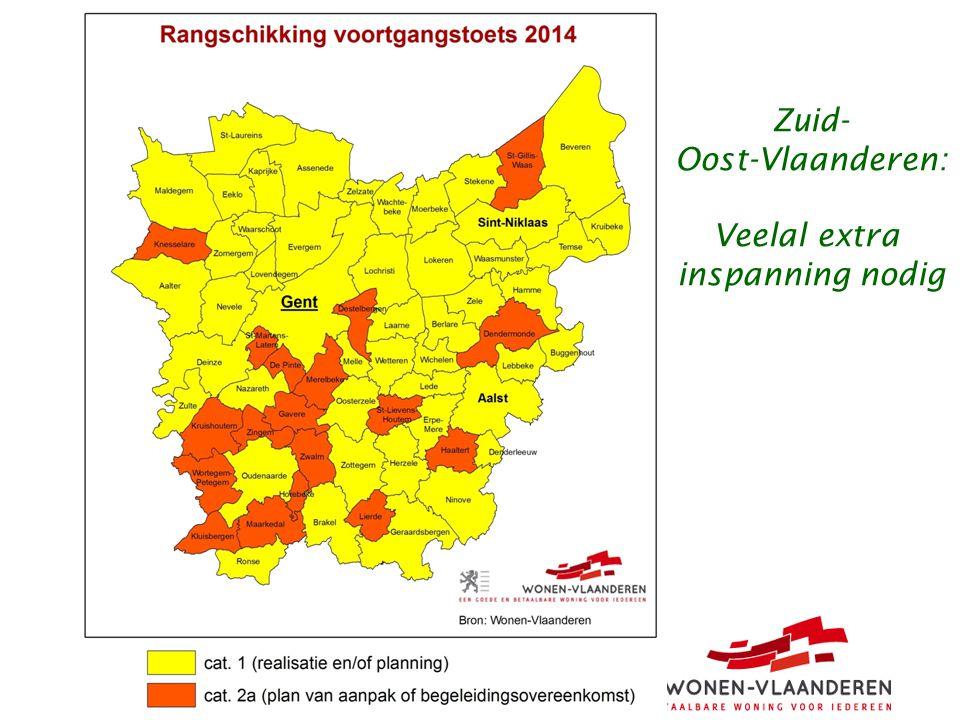 Zuid- Oost-Vlaanderen: Veelal extra inspanning nodig