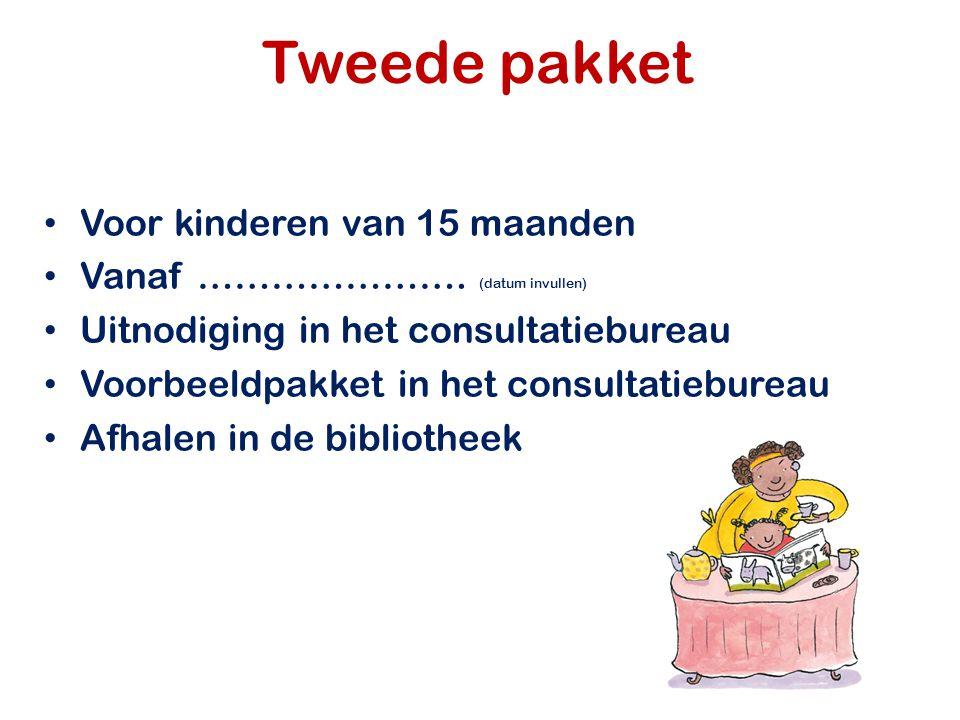 Tweede pakket Voor kinderen van 15 maanden Vanaf ………………….