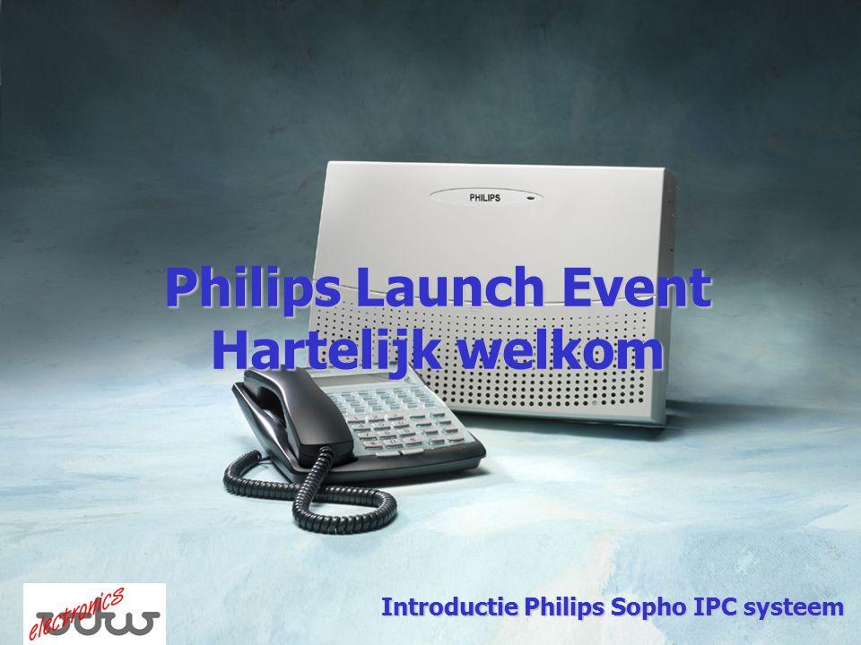 Philips Launch Event Hartelijk welkom Introductie Philips Sopho IPC systeem