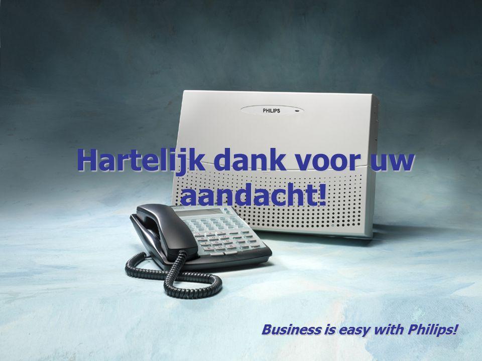 Hartelijk dank voor uw aandacht! Business is easy with Philips!