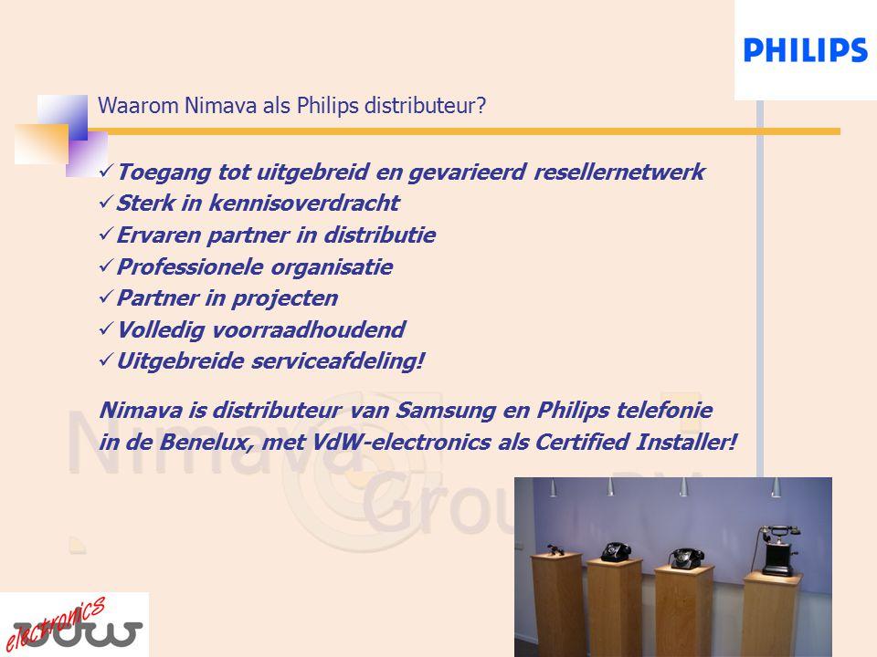 Waarom Nimava als Philips distributeur.