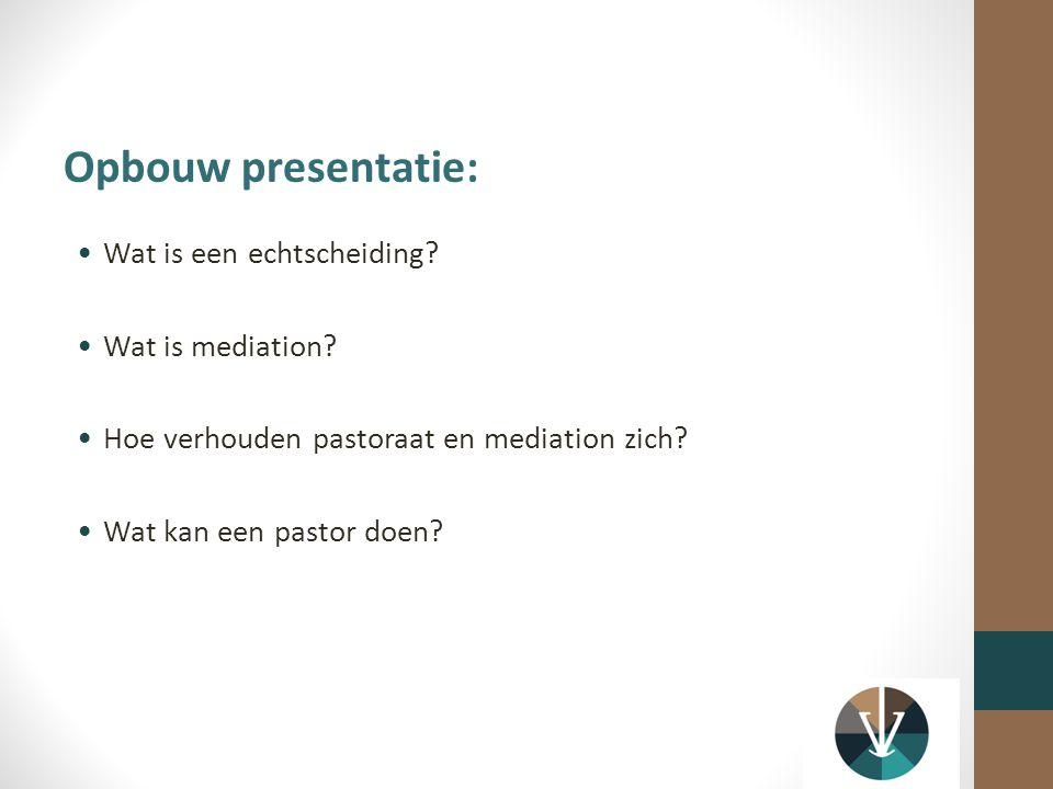 Wat is een echtscheiding.Wat is mediation. Hoe verhouden pastoraat en mediation zich.