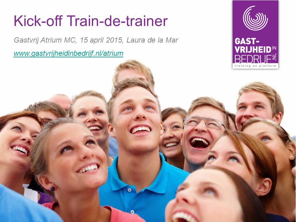Kick-off Train-de-trainer Gastvrij Atrium MC, 15 april 2015, Laura de la Mar www.gastvrijheidinbedrijf.nl/atrium