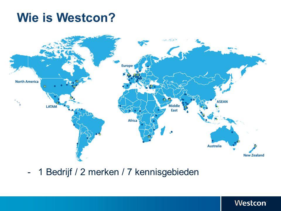 Wie is Westcon? -1 Bedrijf / 2 merken / 7 kennisgebieden