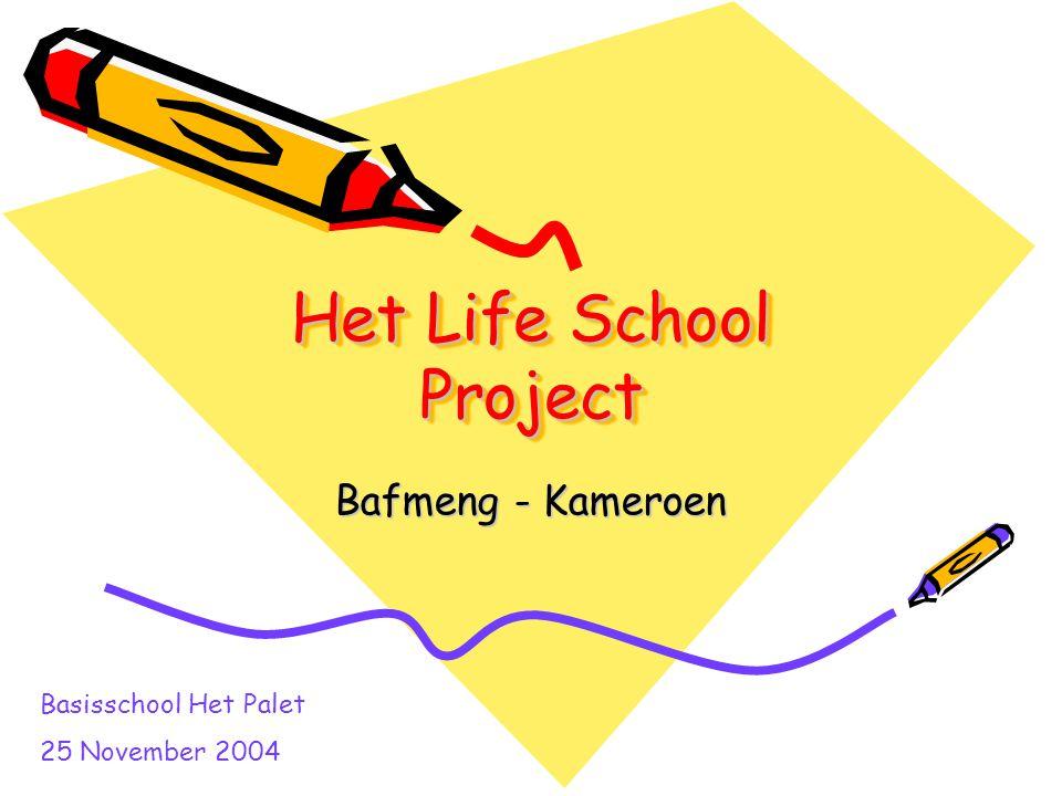 Het Life School Project Bafmeng - Kameroen Basisschool Het Palet 25 November 2004