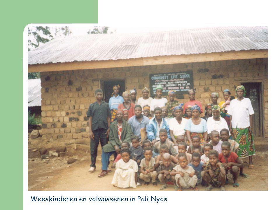 Weeskinderen en volwassenen in Pali Nyos