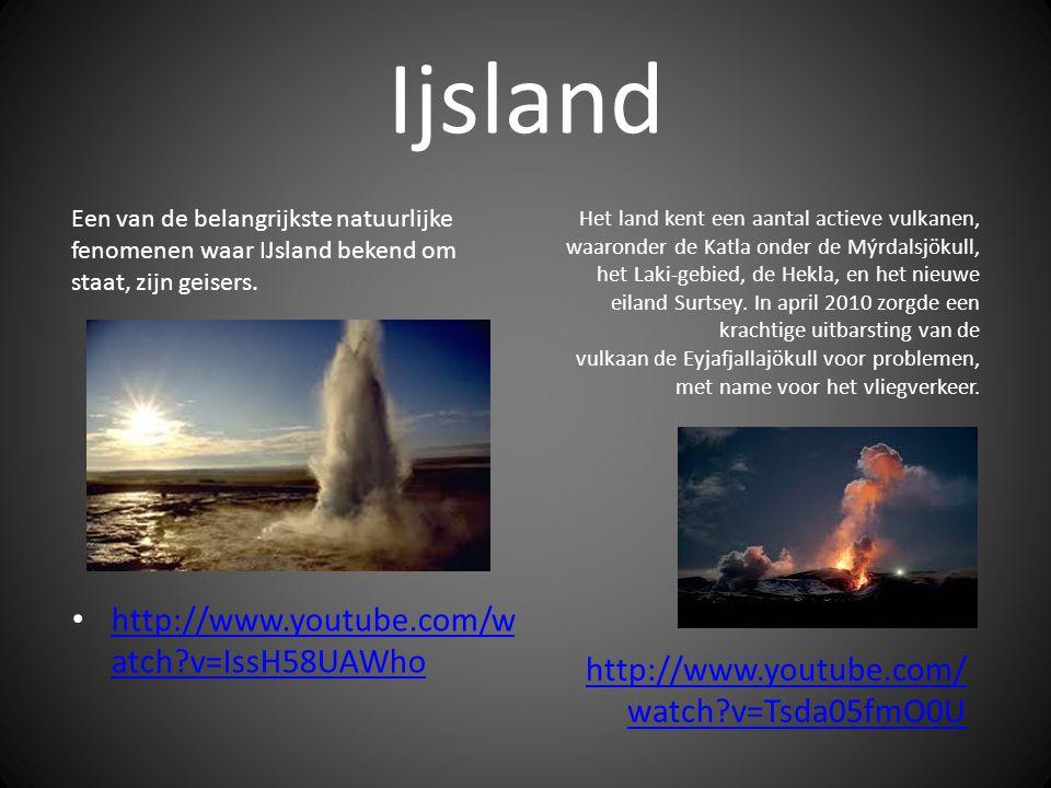 Ijsland Een van de belangrijkste natuurlijke fenomenen waar IJsland bekend om staat, zijn geisers.