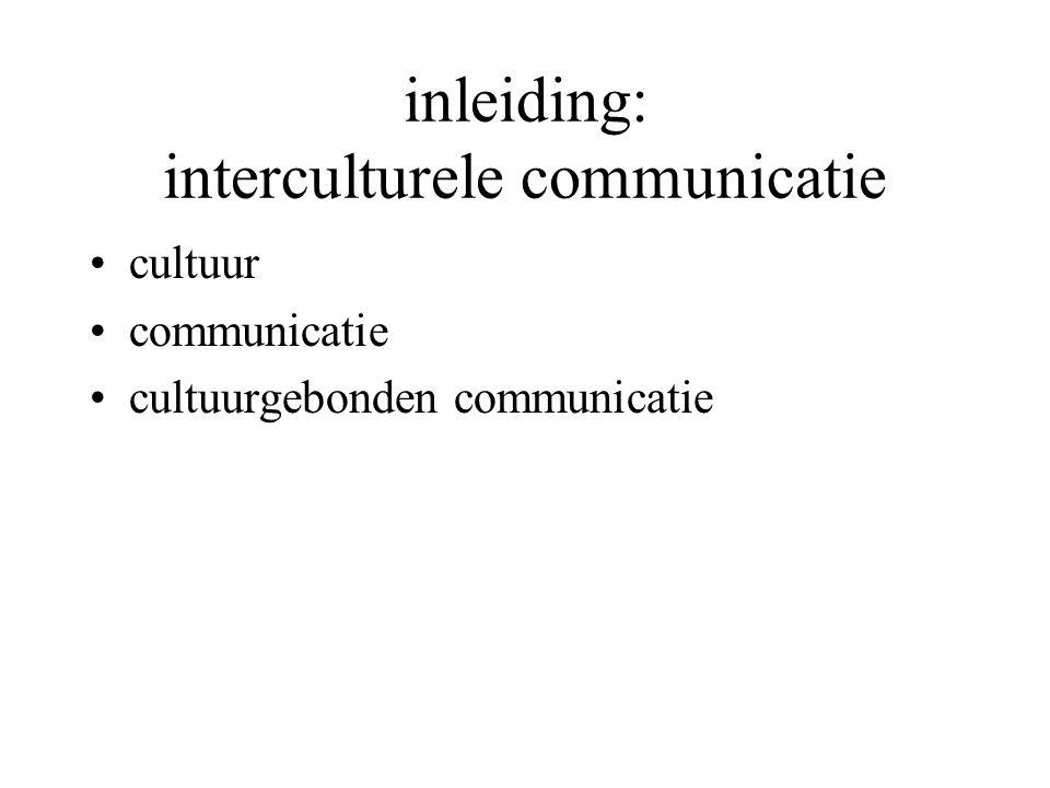 inleiding: interculturele communicatie cultuur communicatie cultuurgebonden communicatie