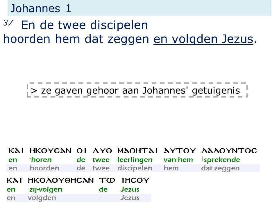 Johannes 1 37 En de twee discipelen hoorden hem dat zeggen en volgden Jezus.