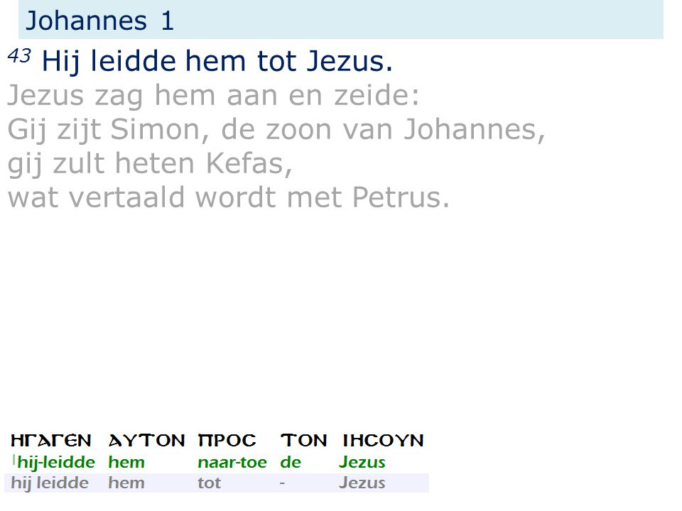 Johannes 1 43 Hij leidde hem tot Jezus.