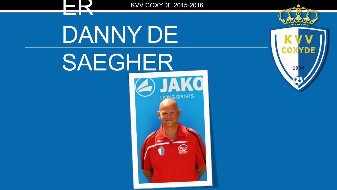 KV MATERIAALMEEST ER DANNY DE SAEGHER KVV COXYDE 2015-2016
